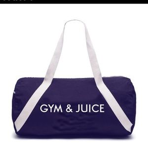 Private Party Gym and Juice Denim Gym Bag